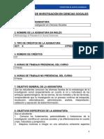 Metodologia de La Investigacion en Ciencias Sociales en Revision