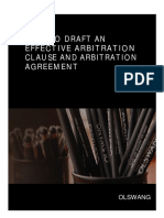 Guidance Note How to Draft an Effective Arbitration Clause and Arbitration Agreement1