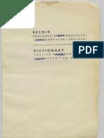 Dictionary English Serbocroatian English Text