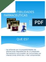 INCOMPATIBILIDADES FARMACEUTICAS