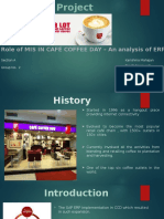 Role of ERP in Cafe Coffee Day