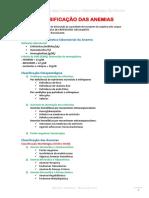 Classificação Das Anemias e Metabolismo Do Ferro