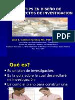 Generalidades Diseño de Proyectos de Investigacion