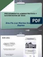 PROCEDIMIENTOS ADMINISTRATIVOS Y SUSTENTACION DE TESIS.pptx