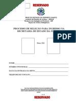 Ficha de Informações Confidenciais - FIC