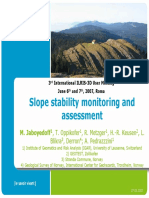 Slope Stability Monitoring and Assessment