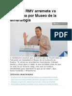 17.10.16 RMV arremete vs Ernestina por Museo de la Mineralogía