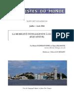 LA MOBILITÉ INTELLIGENTE ÀGUAYAQUIL - Delmotte Claire_Paindavoine Marie - Rapport UdM 2016