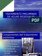8º Clase - Tratamiento Preliminar en Plantas de Tratamiento de Aguas