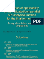 Analytical Validation for FPPs