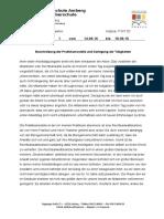 Arbeitsbericht Wirtschaft - Sozialwesen Schreibvorlage