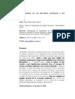 Lectura N_ 2_la Gestion Economica de Los Recursos Naturales y Sus Criticos