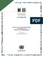 The HIII Tel Aviv Declaration Final