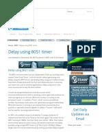 Delay Using 8051 Timer