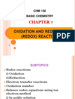 Chapter 7-Oxidation and Reduction Reactions