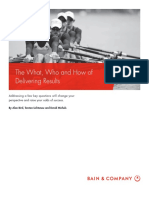 [Oustanding] BAIN BRIEF the What Who and How of Delivering Results