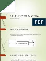 Balances de Materia Sin Reacción Química