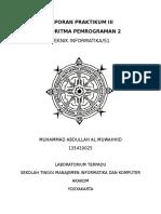 Laporan Praktikum III Algoritma 2