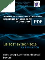 Presentation-LIS BOSY Orientation SY 2015-2016 - New