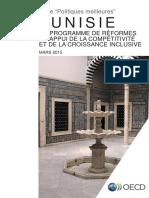 Tunisie Un Programme de Reformes a l Appui de La Competitivite Et de La Croissance Inclusive