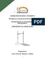 Shayma Chem II Lab Manual....petrochemical engineering department