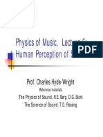 Physics of Music Lecture - Human Perception of Sound
