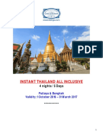 Instant Thailand All Incl 4 Nights