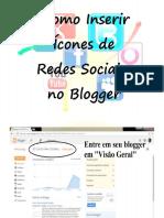 Como Inserir Icones de Redes Sociais No Blog