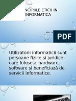 Principiile Eticii in Informatica