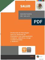 Protocolo de Psicología Para La Atención de Pacientes Con Enfermedades Crónicas- Cardiovascular y Diabetes.