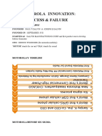 Motorola Innovation Success and Failure