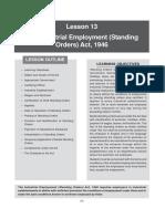 Industrial Employement(Standing Orders) Act 1946