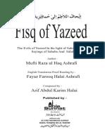 Yazeed bin Muawiya reply to kifayatullah sanabhili
