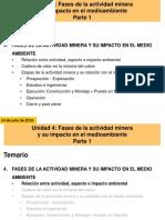 Decima Clase Unidad 4 Fases de La Actividad Minera Parte 1 14072016