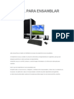 Manual Para Ensamblar Una Pc