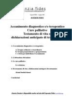 Dossier Accanimento terapeutico - Cure palliative - Testamento di vita