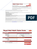Royal Mail Multi Claims Form 11th April 2016