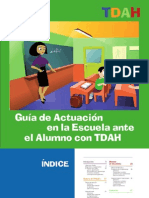 Guía de actuación en la escuela ante el alumno con TDAH