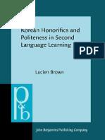 Korean Honorifics and Politeness