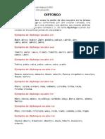 ejemplos diptongo-hiato