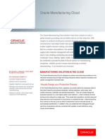 Oracle Manufacturing Cloud Datasheet