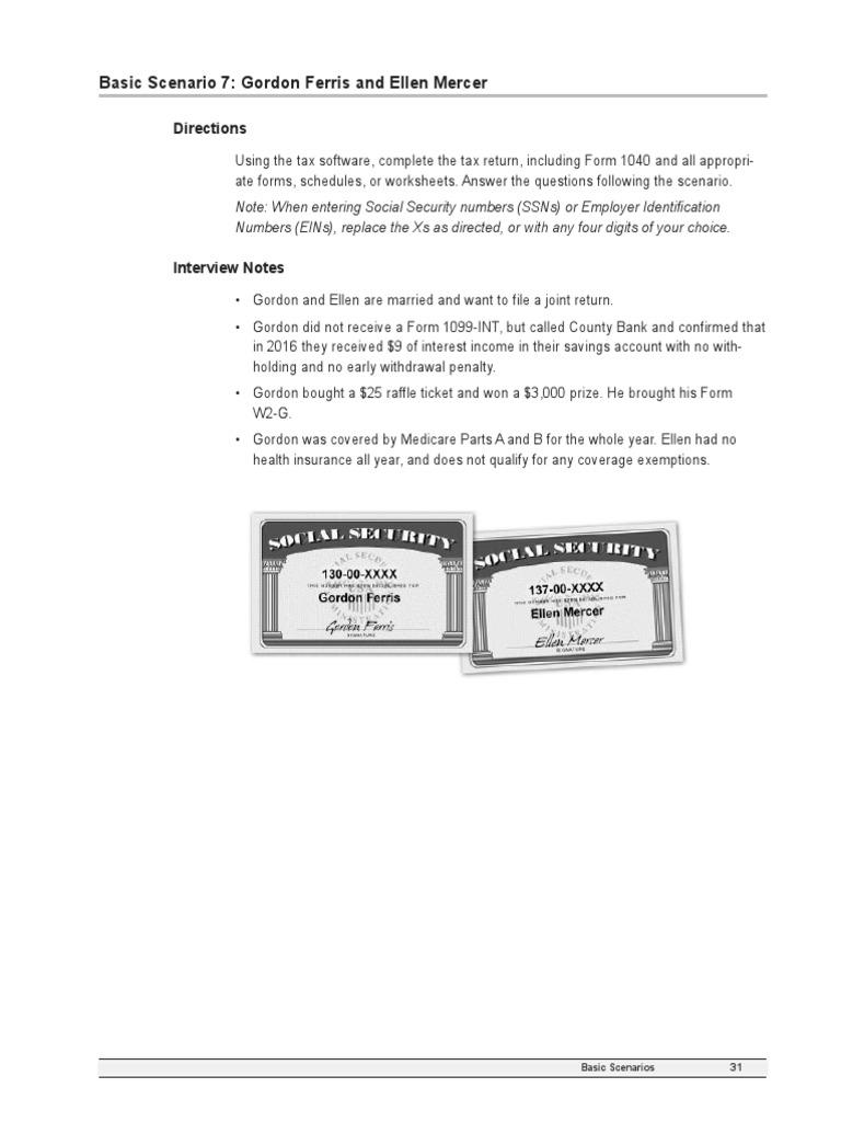 Basic scenario 7 gordon ferris and ellen mercer 2017 falaconquin