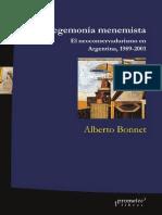 Bonnet_La Hegemonía Menemista_El Neoconservadurismo en Argentina 1989-2001
