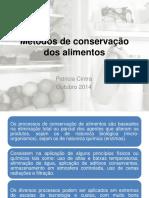 Mc3a9todos de Conservac3a7c3a3o Dos Alimentos 2014
