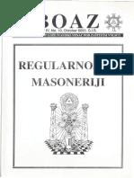 Boaz 4.10 - Regularnost u Masoneriji