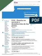 E34 - Puesta en Servicio y Desinfección de Los Pozos - Wikiw