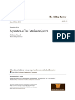 Separation of the Petroleum System