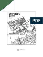 Teacher's Resource Book Wonder 6
