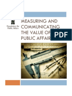 Measuring and Communicating the Value of Public Affairs