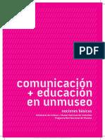 Comunicación + educación en un museo Nociones básicas